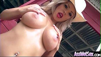 (Luna Star) Oiled Up Big Butt Girl Enjoy Deep Anal Hardcore Sex clip-19