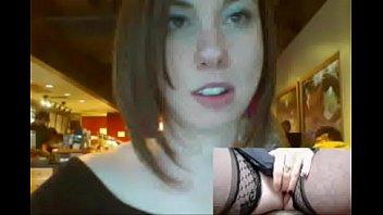 Slut Secretly Masturbates in Crowded Restaurant