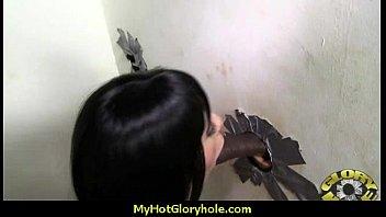 Sexy Wild Lady Deepthroats At Gloryhole 1
