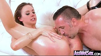 Cute Big Butt Girl (chanel preston) Get Oiled And Hard Anal Nailed On Cam video-08