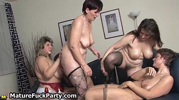 Five sexy moms in horny lingerie having
